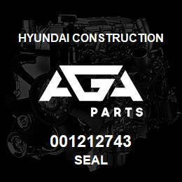 001212743 Hyundai Construction SEAL | AGA Parts