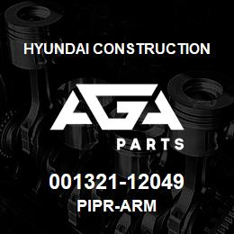 001321-12049 Hyundai Construction PIPR-ARM | AGA Parts