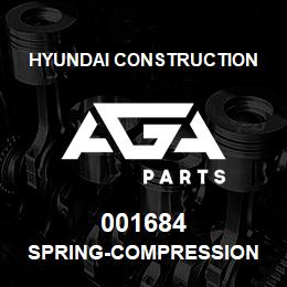 001684 Hyundai Construction SPRING-COMPRESSION | AGA Parts