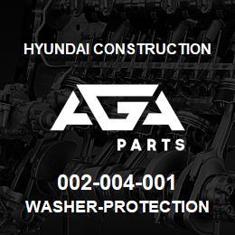 002-004-001 Hyundai Construction WASHER-PROTECTION | AGA Parts