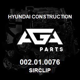 002.01.0076 Hyundai Construction SIRCLIP | AGA Parts