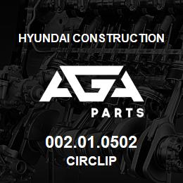 002.01.0502 Hyundai Construction CIRCLIP | AGA Parts