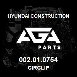 002.01.0754 Hyundai Construction CIRCLIP | AGA Parts