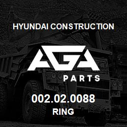 002.02.0088 Hyundai Construction RING | AGA Parts