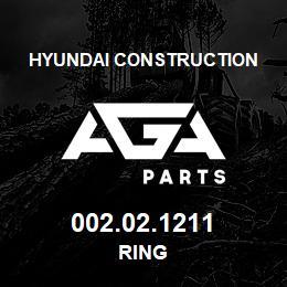 002.02.1211 Hyundai Construction RING | AGA Parts