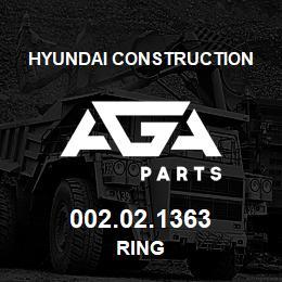 002.02.1363 Hyundai Construction RING | AGA Parts
