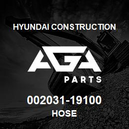 002031-19100 Hyundai Construction HOSE | AGA Parts