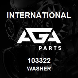 103322 International WASHER | AGA Parts