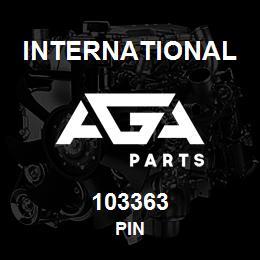 103363 International PIN | AGA Parts
