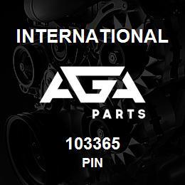 103365 International PIN | AGA Parts