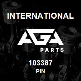 103387 International PIN | AGA Parts