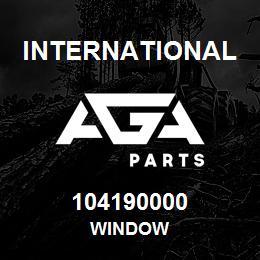 104190000 International WINDOW   AGA Parts