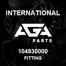 104830000 International FITTING | AGA Parts