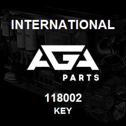 118002 International KEY | AGA Parts