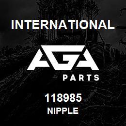 118985 International NIPPLE | AGA Parts