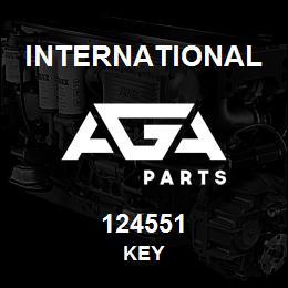 124551 International KEY | AGA Parts