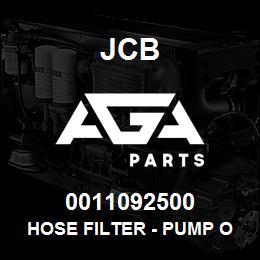 0011092500 JCB Hose filter - pump overflow