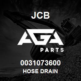 0031073600 JCB Hose drain