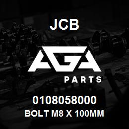 0108058000 JCB Bolt M8 x 100mm