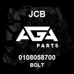 0108058700 JCB Bolt