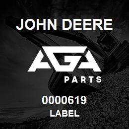 0000619 John Deere LABEL | AGA Parts