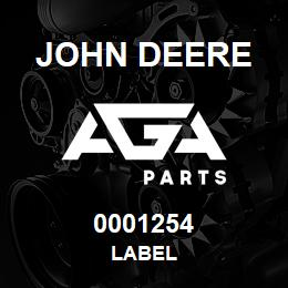 0001254 John Deere LABEL | AGA Parts