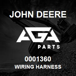 0001360 John Deere Wiring Harness | AGA Parts