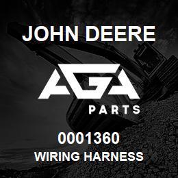 0001360 John Deere Wiring Harness