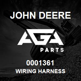 0001361 John Deere Wiring Harness | AGA Parts
