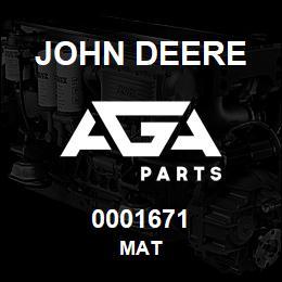 0001671 John Deere MAT