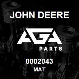 0002043 John Deere MAT | AGA Parts