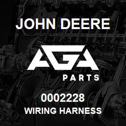 0002228 John Deere WIRING HARNESS | AGA Parts