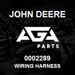 0002289 John Deere WIRING HARNESS | AGA Parts