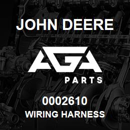 0002610 John Deere Wiring Harness