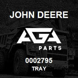 0002795 John Deere TRAY | AGA Parts