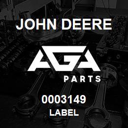 0003149 John Deere LABEL