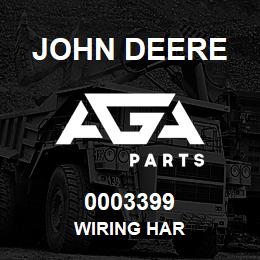 0003399 John Deere WIRING HAR | AGA Parts