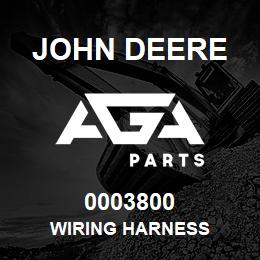 0003800 John Deere WIRING HARNESS | AGA Parts
