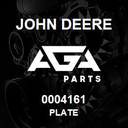 0004161 John Deere PLATE
