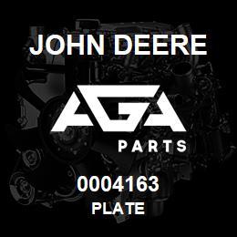 0004163 John Deere PLATE | AGA Parts
