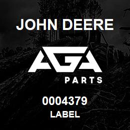 0004379 John Deere LABEL | AGA Parts