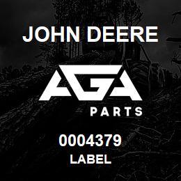 0004379 John Deere LABEL
