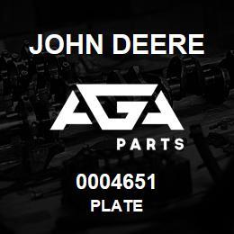 0004651 John Deere Plate | AGA Parts