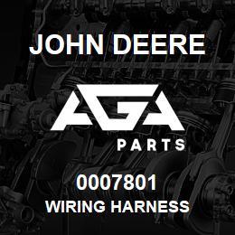 0007801 John Deere Wiring Harness   AGA Parts