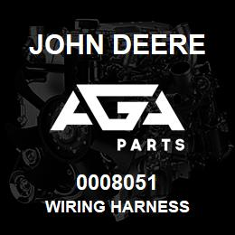 0008051 John Deere Wiring Harness | AGA Parts