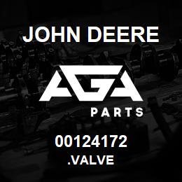 00124172 John Deere .VALVE   AGA Parts