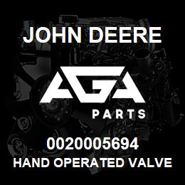 0020005694 John Deere Hand Operated Valve | AGA Parts
