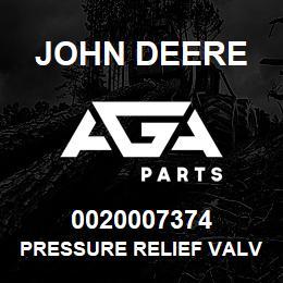 0020007374 John Deere Pressure Relief Valve | AGA Parts