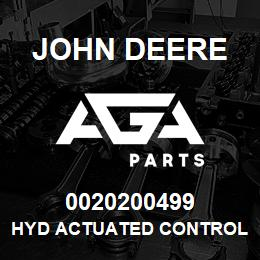 0020200499 John Deere Hyd Actuated Control Valve | AGA Parts