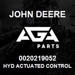 0020219052 John Deere Hyd Actuated Control Valve | AGA Parts